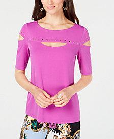 Thalia Sodi Studded Cutout Top, Created for Macy's
