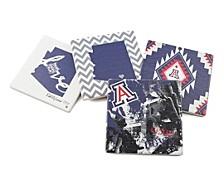 University of Arizona Spirit Coasters, Set of 4.