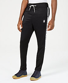 G-Star RAW Mens Logo-Taped Cropped Track Pants, Created for Macy's