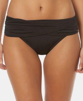 Fold-Over Sarong Hipster Bikini Bottoms