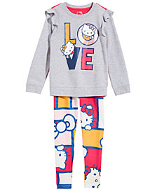Hello Kitty Little Girls 2-Pc. Love Ruffle Top & Leggings Set