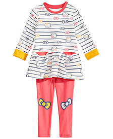 Hello Kitty Little Girls 2-Pc. Striped Tunic & Leggings Set