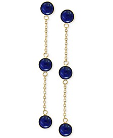 EFFY® Onyx (5mm) Triple Drop Earrings in 14k Gold (Also in Jade & Lapis Lazuli)