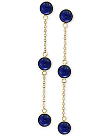 EFFY® Onyx (5mm) Triple Drop Earrings in 14k Gold (Also in Jade & Lapis Lazuli)