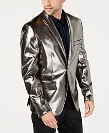 I.N.C. Men's Metallic Faux-Leather Blazer, Created for Macy's