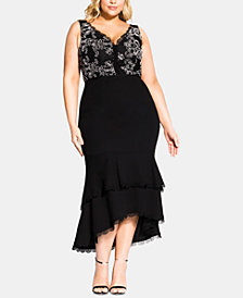 City Chic Trendy Plus Size Sweet Occasion Dress