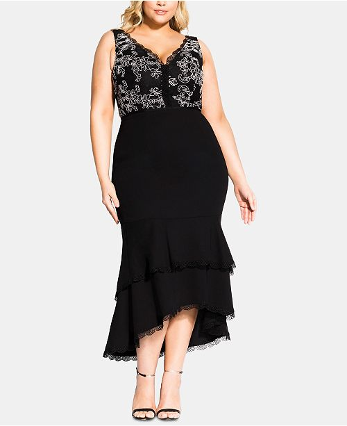 City Chic Trendy Plus Size Sweet Occasion Dress & Reviews ...