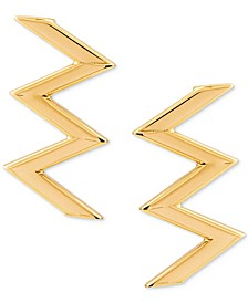Zigzag Stud Earrings in 10k Gold