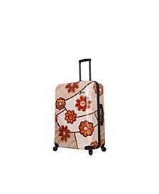 "Mia Toro Italy Ricci Wood Mozaic Flowers 28"" Spinner"