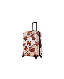 "Mia Toro Italy Ricci Wood Mozaic Butterflies 28"" Spinner"