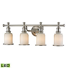 Acadia Collection 4 Light Bath In Brushed Nickel