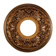 "Acanthus Medallion 11"" in Antique Bronze Finish"