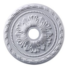 "Corinthian Medallion 22"" In White Finish"