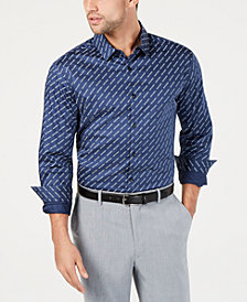 I.N.C. Men's Diagonal Text Shirt, Created for Macy's