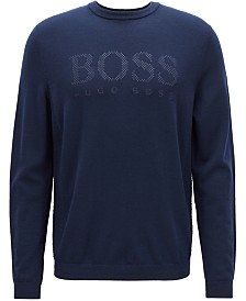 BOSS Men's Logo Graphic Wool Sweater