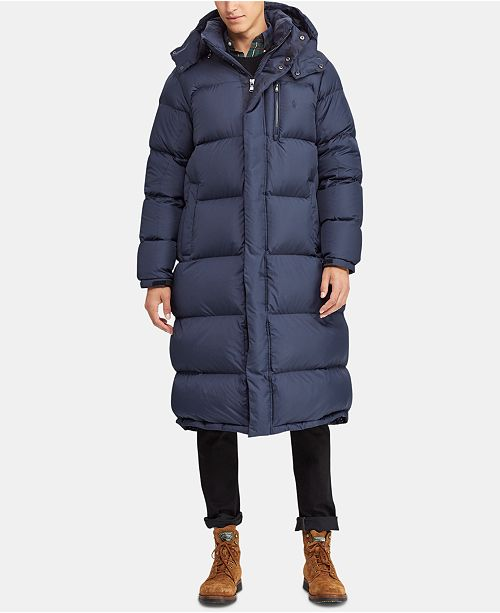 125fa559d3 Polo Ralph Lauren Men's Hooded Ripstop Down Coat, Created for Macy's ...