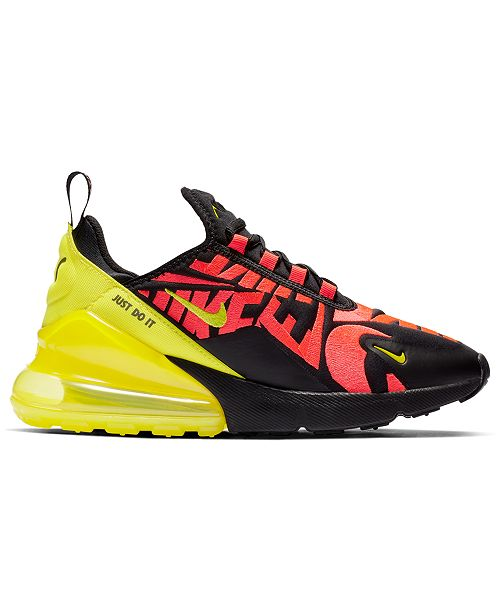 sale retailer 0aae6 f7e7d ... Nike Boys  Air Max 270 Embroidered Casual Sneakers from Finish Line ...