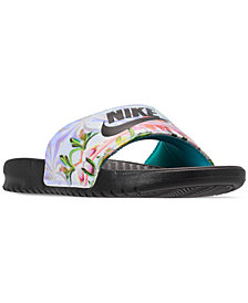 Nike Women's Benassi Just Do It Print Slide Sandals from Finish Line