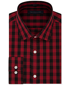 Tommy Hilfiger Men's Slim-Fit Buffalo Check Dress Shirt