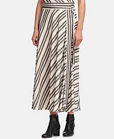 DKNY Belted Eyelash-Striped Skirt, Created for Macy's