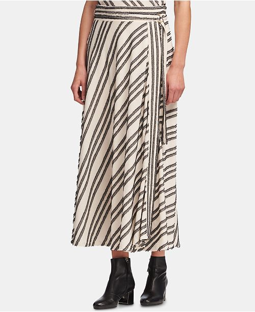 28b1c56645 DKNY Belted Eyelash-Striped Skirt & Reviews - Skirts - Women - Macy's