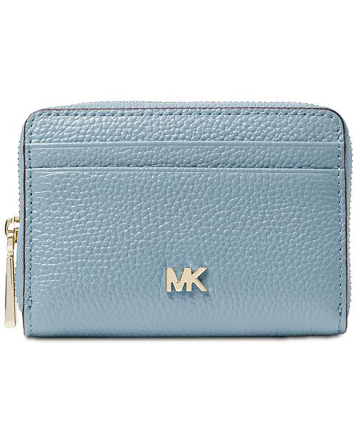 575218f911ed Michael Kors Pebble Leather Zip-Around Coin & Card Case & Reviews ...