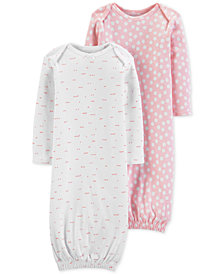 Carter's Little Planet Organics Baby Girls 2-Pk. Printed Cotton Sleeper Gowns