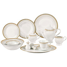 Lorren Home Trends Aria 57-PC Dinnerware Set, Service for 8