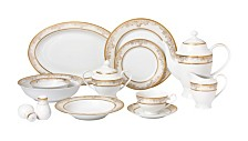 Lorren Home Trends Chloe 57-PC Dinnerware Set, Service for 8