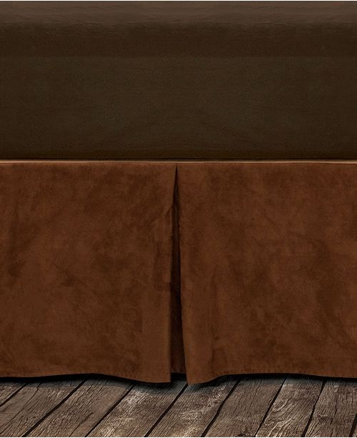 HiEnd Accents Microfiber Suede Twin Bedskirt