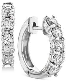 Diamond Hoop Earrings (2 ct. t.w.) in 14k White Gold