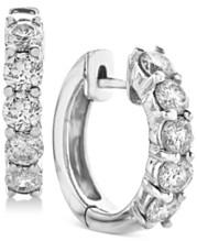 a10177359fb604 Diamond Hoop Earrings (2 ct. t.w.) in 14k White Gold