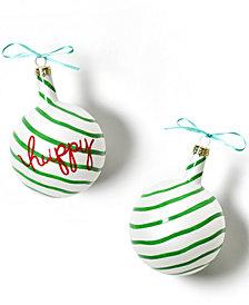 Coton Colors Christmas Spirits Happy Vintage Glass Ornament