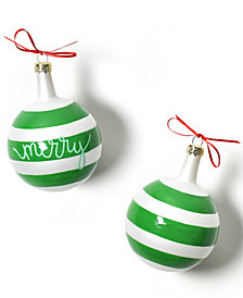 Coton Colors Christmas Spirits Merry Vintage Glass Ornament