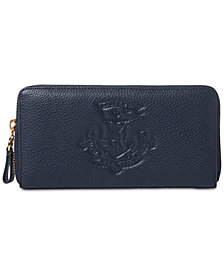 Lauren Ralph Lauren Huntley Zip Around Leather Wallet