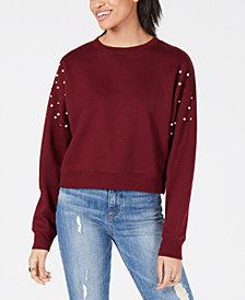 Freshman Juniors' Imitation Pearl Sweatshirt