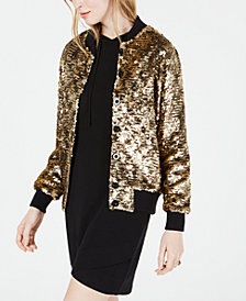 Bl^nk Kimberly Sequin Bomber Jacket