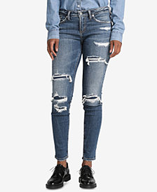 Silver Jeans Co. Aiko Ripped Skinny Jeans