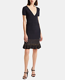 French Connection Beth Flared-Hem Knit Dress