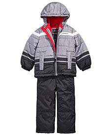 London Fog Toddler Boys Hooded Colorblocked Snowsuit