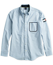 Tommy Hilfiger Adaptive Men's  Royce Sealed Shirt with Magnetic Closure