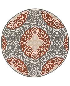 CLOSEOUT! Surya  Cosmopolitan COS-9303 Camel 8' Round Area Rug