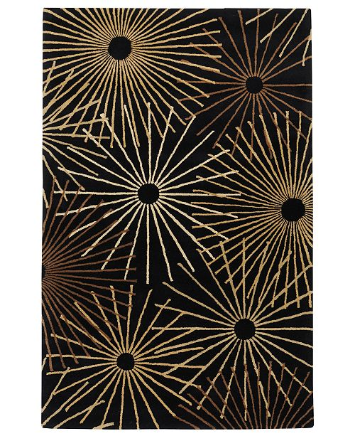Surya Forum FM-7090 Black 9' x 12' Area Rug