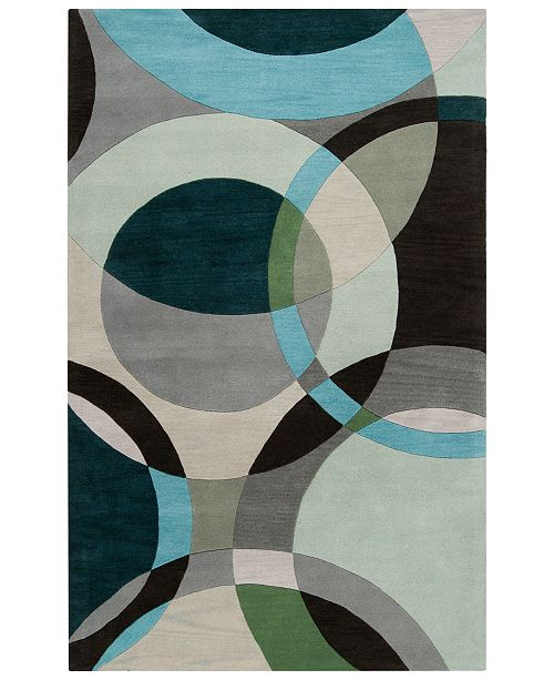 Surya Forum FM-7157 Dark Green 5' x 8' Area Rug