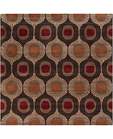 Surya Forum FM-7170 Dark Brown 8' Square Area Rug