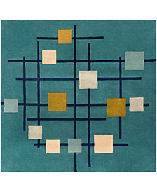 Surya Forum FM-7201 Teal 6' Square Area Rug