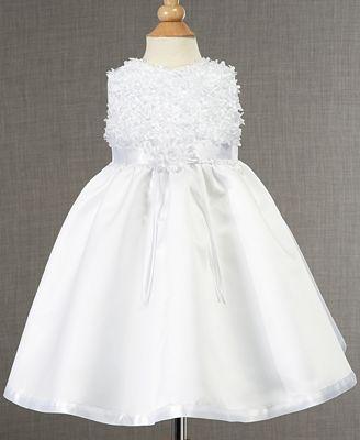 Lauren Madison Baby Dress, Baby Girls Soutache Christening Dress ...