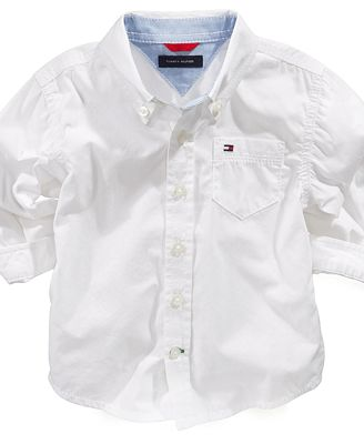 Tommy Hilfiger Baby Shirt, Baby Boys Classic Shirt ...