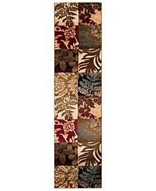"CLOSEOUT!  Riley RLY-5015 Tan 3' x 7'2"" Runner Area Rug"