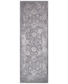 """Surya Tibetan TBT-2309 Medium Gray 2'7"""" x 7'6"""" Runner Area Rug"""